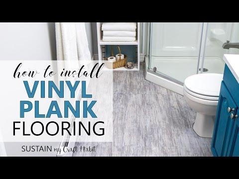How to Install Vinyl Plank Flooring // Allure ISOCORE Vinyl Tile Installation Tutorial