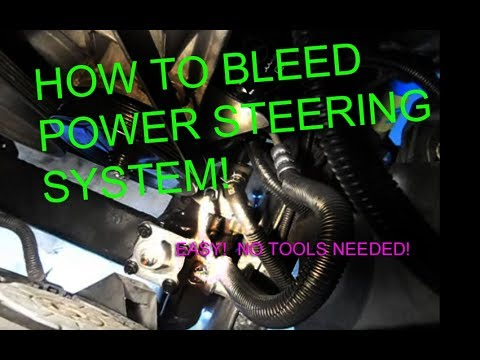 How to bleed power steering system, Power steering fluid on your car or Truck BEST WAY