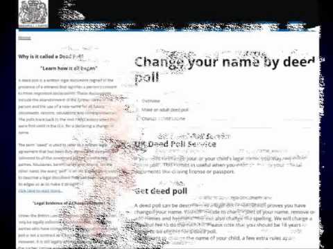 Restrictions For Change Of Name By Deed Poll
