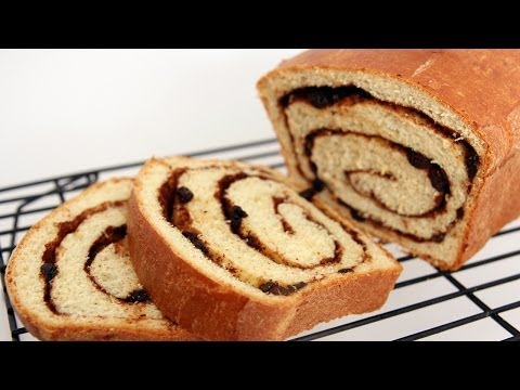 Homemade Cinnamon Raisin Bread Recipe - Laura Vitale - Laura in the Kitchen Episode 659