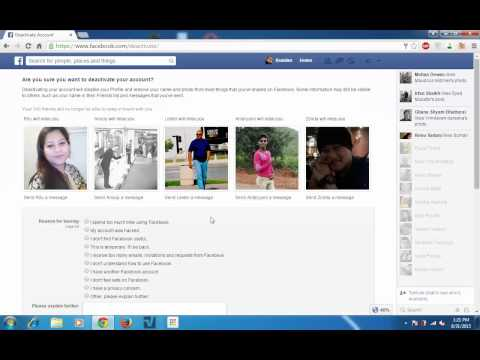 How to deactivate your Facebook account temporarily 2015 without loosing data (Free tips)