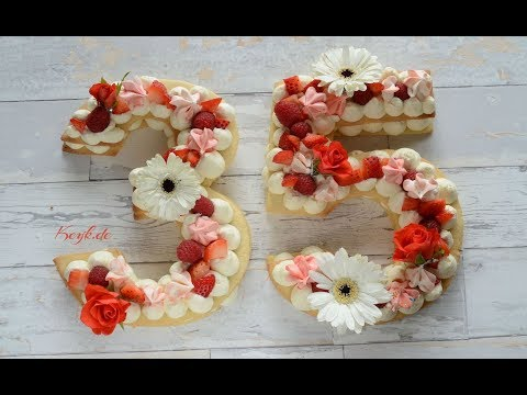 Birthday cookie cake in number shape recipe