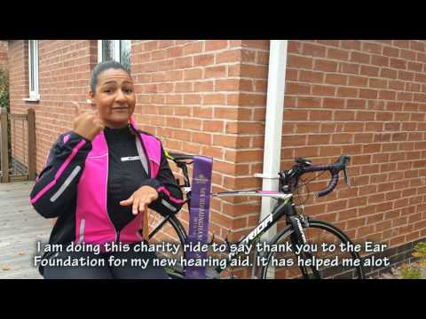 Cycling from Birmingham to Nottingham for The Ear Foundation
