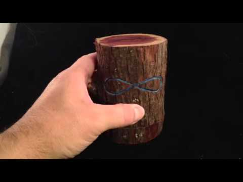 Cherry tree in Cedar Log Ring Box