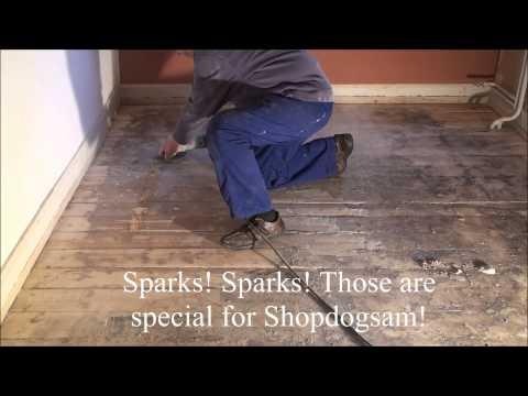 Preparing old floors for sanding