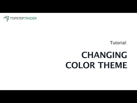 Changing Color Theme
