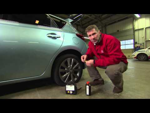 Toyota 'how to' - Use a tyre repair kit