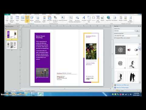 Creating a Brochure with Publisher