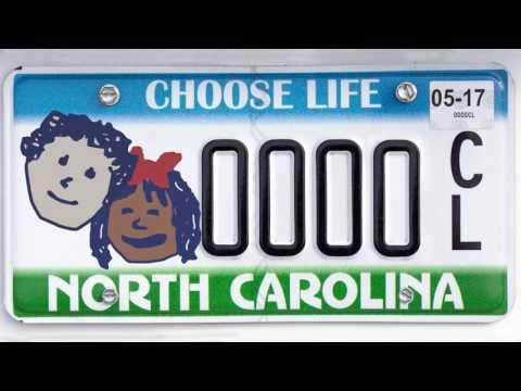 Choose Life NC License Plates