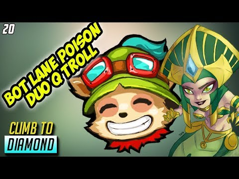 I Get Teemo + Cassiopeia BOT LANE DUO TROLL in my PROMOS- Climb to Diamond #20