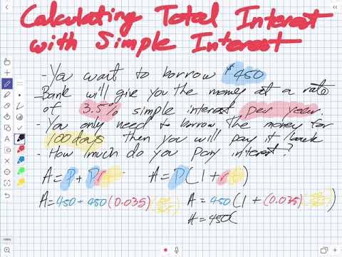 Calculating Simple Interest (Grade 11 University)
