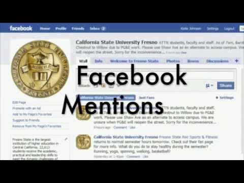 Facebook Mentions: Share and promote campus info