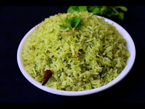 simple and easy pudina rice/variety rice recipe ( lunch ideas for kids )