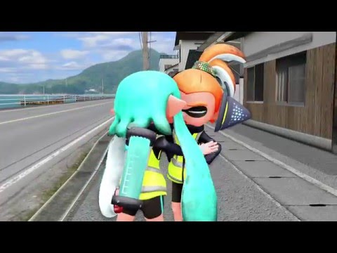[MMD] Ngyes gets a kiss on the 1st date [Splatoon]