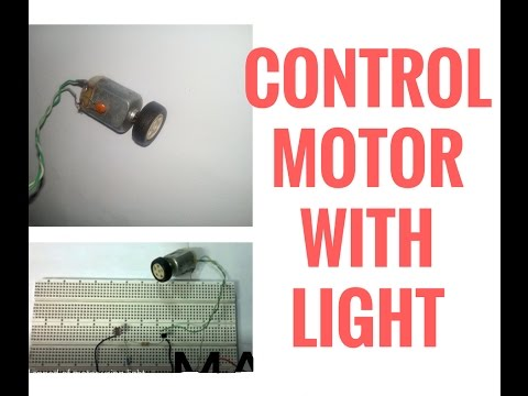 How to control the speed of motor using light and LDR by elecronics projects