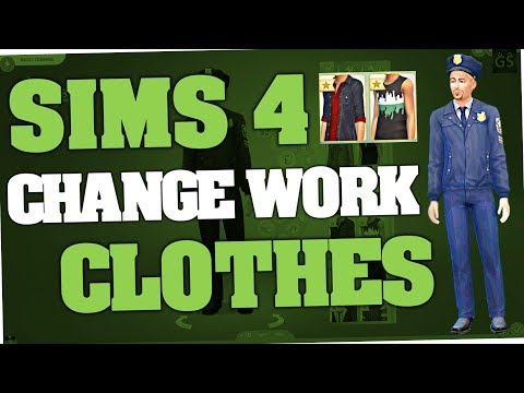 Sims 4 - How to change Work Clothes (Cheat | PC)