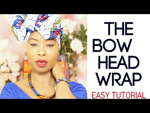 Beginner Head Wrap Tutorial - How To Tie A Head Wrap - Easy Hijab - Protective Style - Curly Hair