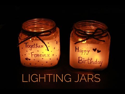 Lighting Jars | Handmade Gifts | Scissors and Ribbons