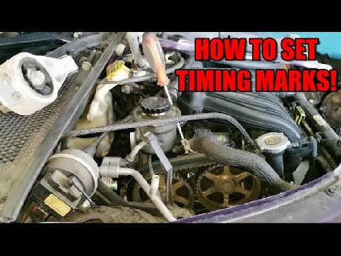How To Set Timing Marks & Belt Removal 2001-2010 Chrysler PT Cruiser