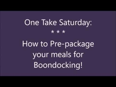 One Take Saturday: How to Package Dry Goods for Travel (RV)