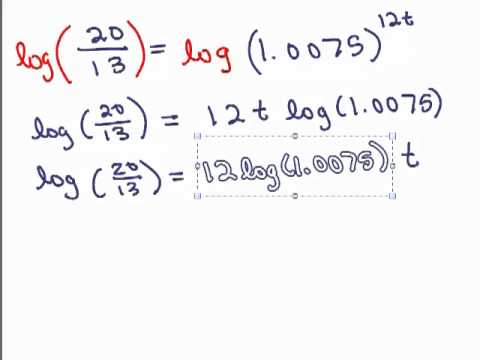 Log Application 1 - Compound Interest