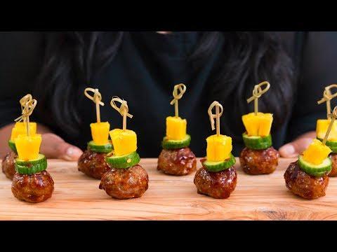 Sticky Chicken Meatball Bites