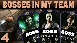 MKX Mobile BOSS Madness. Notorious Jason, Sonya, Quan Chi team! Part 4.
