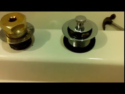 Install New Bathtub Drain Easy With A Drain Removal Tool With or Without Cross Tees