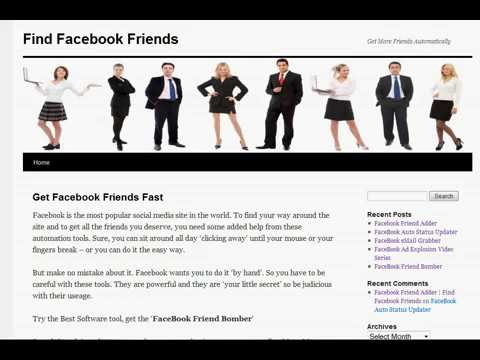 How To Find and Get Facebook Fan Friends Fast & Automatically
