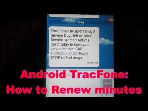 Android TracFone : How to renew airtime