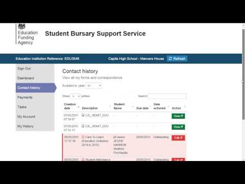 Student Bursary Support Service portal - Portal overview for providers