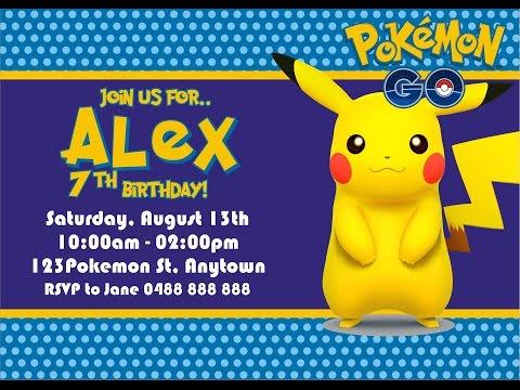 How to Make Pokemon GO Birthday Invitation in Coreldraw