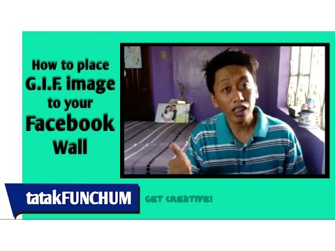 How to place GIF image in your Facebook wall