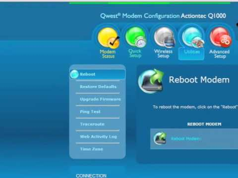 How to Restore the Q1000 Qwest Wireless N VDSL Modem Router back to factory defaults