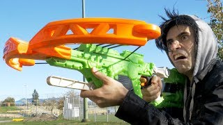 NERF Bow Trick Shots