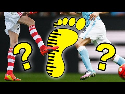 The Biggest And Smallest Feet In Football