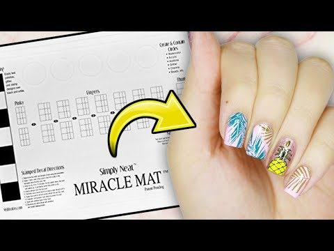 Testing The Simply Neat Miracle Mat For Nail Art!