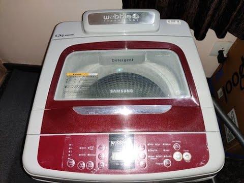 Samsung Wobble Washing Machine Review Hindi WA62K4200HB/TL   Washing Machine Review Hindi