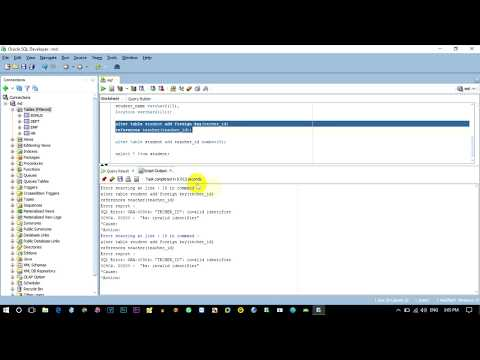 How to Add Primary Key After Creating a Table | Add Foreign Key After Creating a Table | Oracle 12c