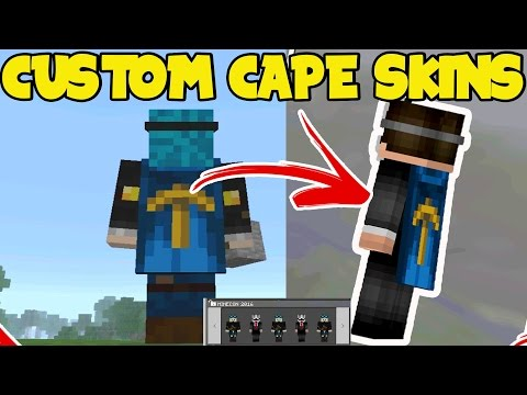 CUSTOM CAPE SKINS! Minecraft PE (Pocket Edition) CAPES! // How to Get a CAPE on ANY SKIN for MCPE