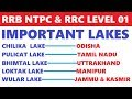 Download  RRB NTPC AND RRC LEVEL 1 | IMPORTANT LAKES OF INDIA | GEOGRAPHY FOR RRB NTPC MP3,3GP,MP4