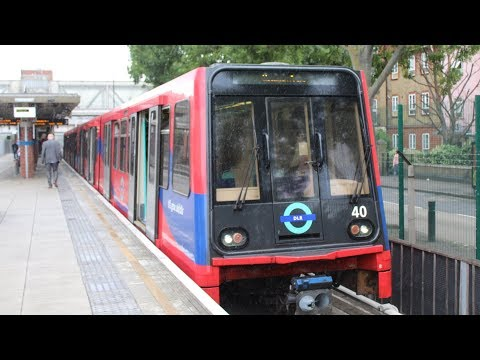 FRONT VIEW!   DLR Bombardier B90 stock   Stratford International to Woolwich Arsenal   Fleet No. 40