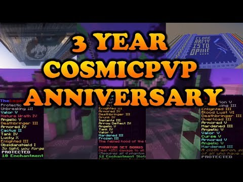 3 YEAR COSMICPVP ANNIVERSARY MONTAGE [God set kills, Raids, Fac face reveal, Base tours] (Map 2-7)