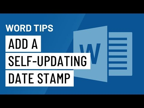 Word Quick Tip: Add a Self-Updating Date Stamp to Your Doc