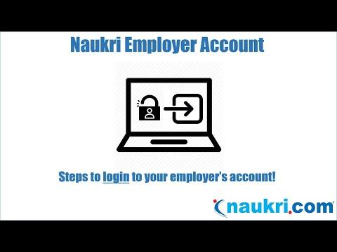 How to Login to the Naukri Employer's account?