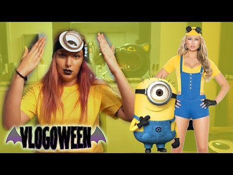 Quick & Easy $5 DIY Minions Costume | 🎃31 Days of Vlogoween🎃