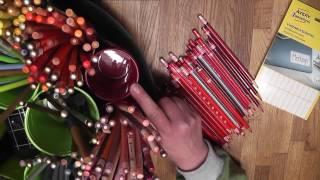 Mein Stiftekarussel - Aufbewahrung Vieler Buntstifte Im Drehkarussell Mit Farbmarkierungen
