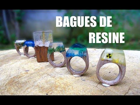 Fabriquer des bagues en résine (Secret Woods Rings)