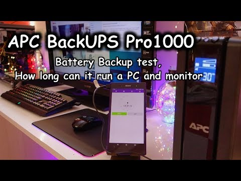APC BackUPS Pro 1000 battery backup test how long can it run PC and a TV monitor on batteries