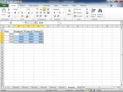 Excel 2010 Use the Comma Style Button